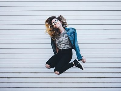 jumping picture of a girl